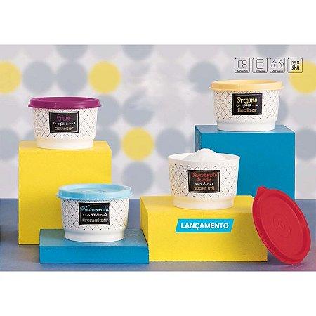 Tupperware Potinhos Tempero Bistrô kit 4 peças