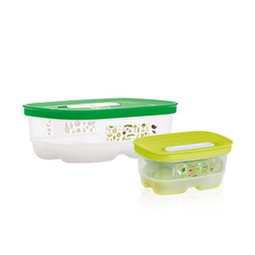 Tupperware VentSmart Retangular 800ml + 375ml