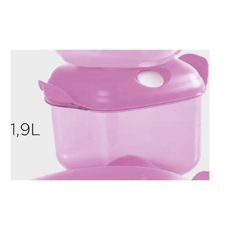 Tupperware Cristal Pop Quadrada 1,9 litro Rosa