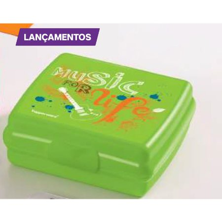 Tupperware Porta Sanduíche Music Verde