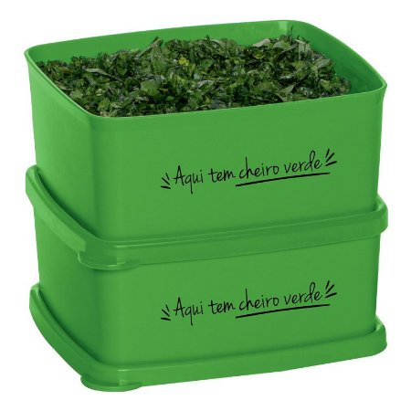 Tupperware Jeitosinho Cheiro Verde 400ml Kit 2 peças