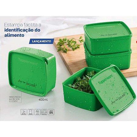 Tupperware Jeitosinho Aqui tem Cheiro Verde 400ml Kit 4 peças