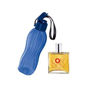 Perfume Nutrimetics London Colônia 100ml + Eco Tupper Plus 500ml Kit 2 Peças