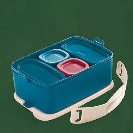 Tupperware Picnic Line com Alça 1,5 litro Conjunto 5 peças