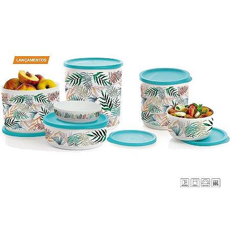 Tupperware Refri Line Redondo Tropical Kit 6 peças