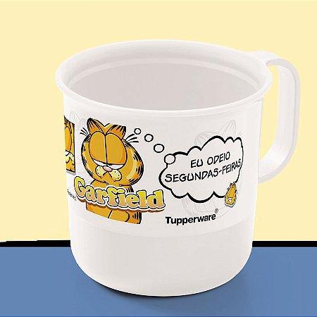 Tupperware Caneca Garfield 350ml Branco