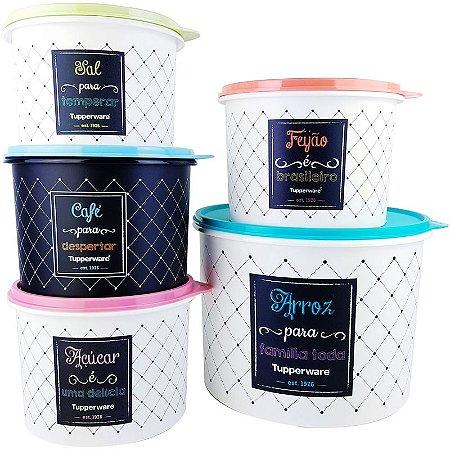 Tupperware Caixa Bistrô kit 5 peças