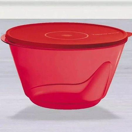 Tupperware Tigela Design Vermelho Transparente 5,5 litros