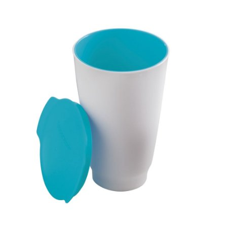 Tupperware Copo Allegra Azul e Branco 450ml