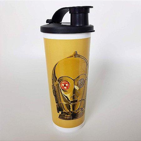 Tupperware Copo C-3PO Star Wars 470ml Dourado