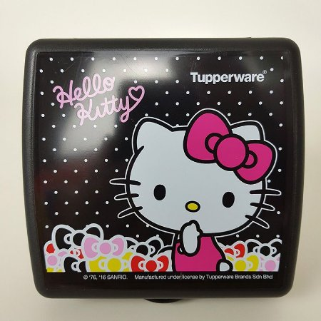Tupperware Porta Sanduíche Hello Kitty Rosa