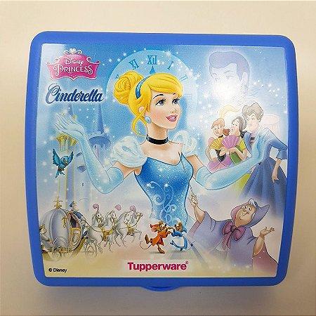 Tupperware Porta Sanduíche Cinderela Azul