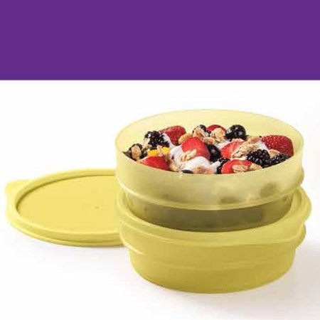 Tupperware Pote Dinâmico 400ml Amarelo Kit 2 peças