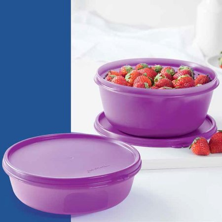 Tupperware Tigela Visual 1,5 Litros + 1litro Lilás
