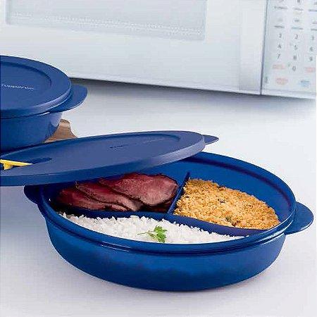 Tupperware Cristalwave com Divisórias 1,4 litro Geração II Azul