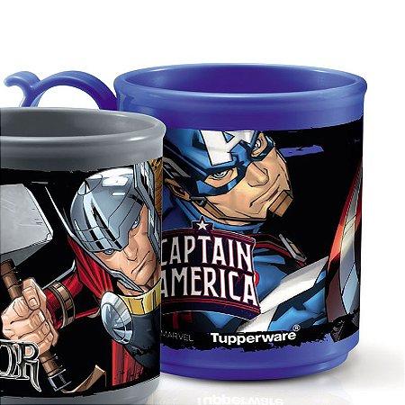 Tupperware Caneca Jumbo Capitão América 280ml