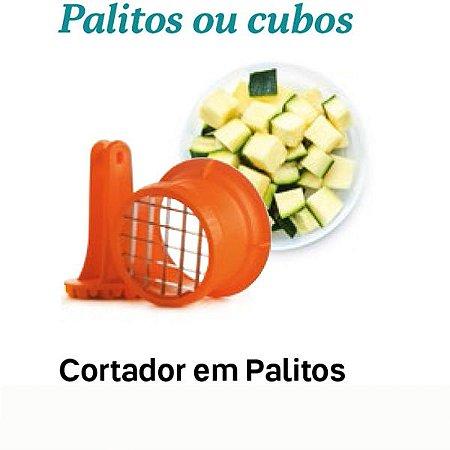 Tupperware Cortador Palitos e Cubos Master Laranja