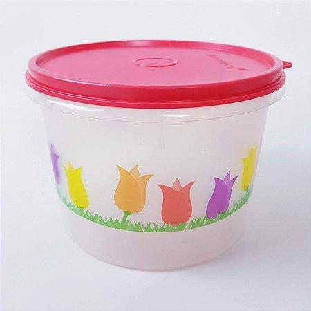Tupperware Caixa Estampado Rosas 1,1 litro Vermelho