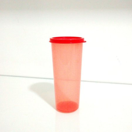 Tupperware Copo 470 ml Coral com tampa