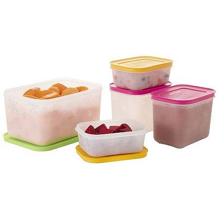 Tupperware Freezer Line kit 5 peças
