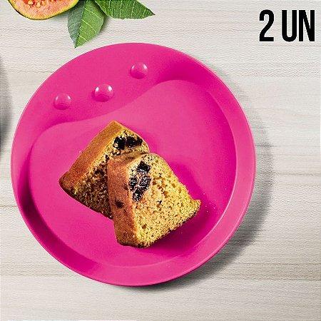 Tupperware Prato Infantil Rosa Kit 2 peças