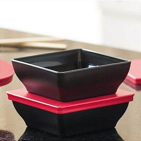 Tupperware Travessa Zen Line Quadrada 200ml Kit 2 peças