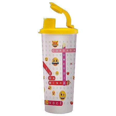 Tupperware Copo com Bico 470ml Emoji Ela