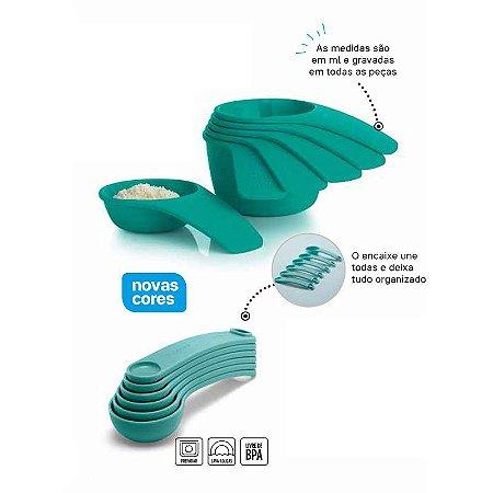 Tupperware Xícaras Medidoras Geração II + Colheres Medidoras Geração II