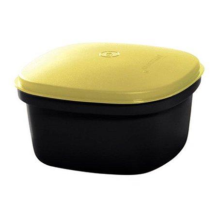 Tupperware Travessa Quadrada Actualité 2,5 litro Preto Amarelo