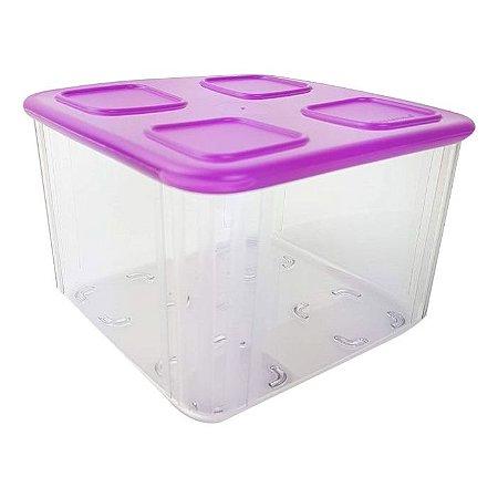 Tupperware Clear Mate Quadrado 1,62 litro