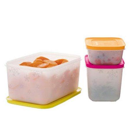 Tupperware Freezer Line kit 3 peças