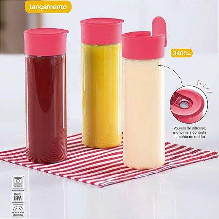 Tupperware Dispenser para Molhos 340ml kit 3 Peças