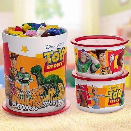 Tupperware Super Instantânea Slim Toy Story + Slim Toy Story 575ml Kit 3 peças