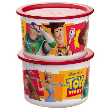 Tupperware Mini Instantânea Slim Toy Story 575ml Kit 2 peças