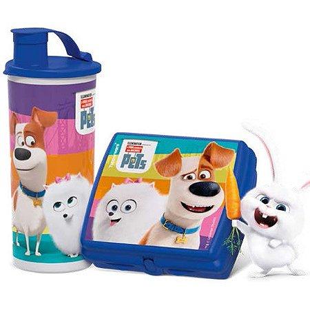 Tupperware Copo com Bico Pets 470ml + Porta Sanduíche Pets