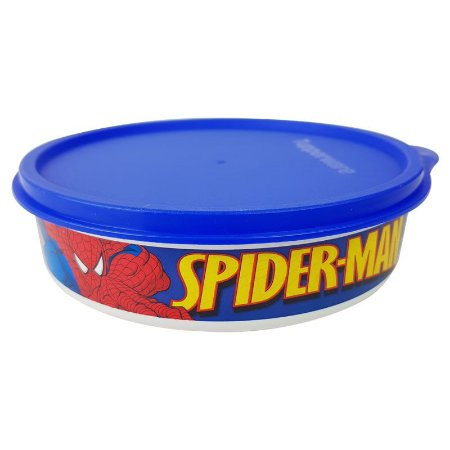 Tupperware Pratinho Homem Aranha 500ml Azul