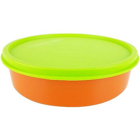 Tupperware Pratinho Infantil 500ml Laranja e Verde