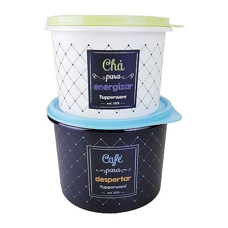 Tupperware Caixa Café 700g + Chá 200g Bistrô