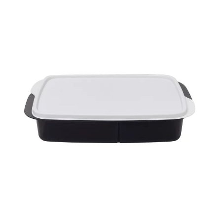 Tupperware Basic Line Com Divisórias 1 litro Preto