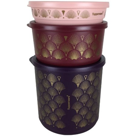 Tupperware Refri Line Redondo Gold 1,1 litro + 530ml + 200ml