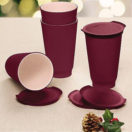 Tupperware Copo Allegra 450ml Vinho Kit 4 peças