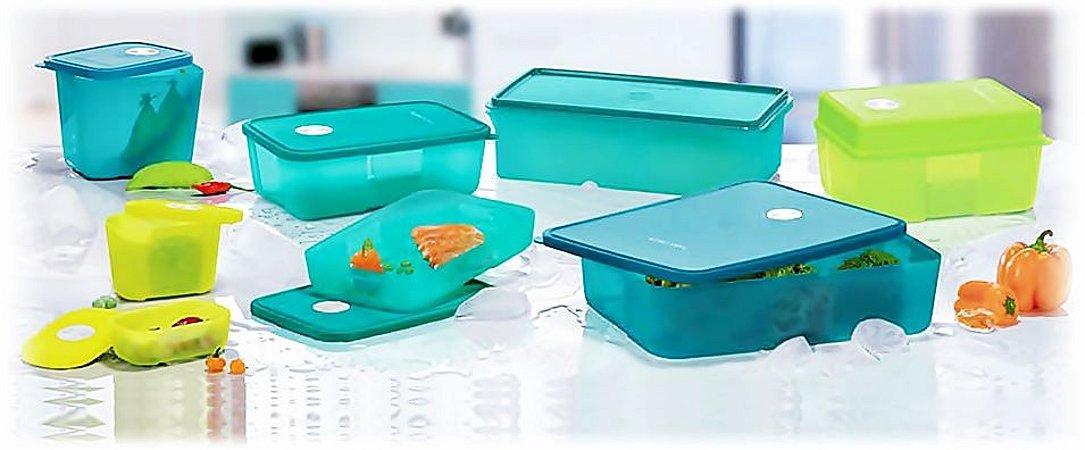 Tupperware Kit BEA Freezertime Nível 3 Verde 8 Peças