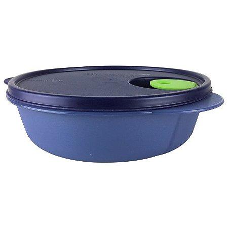 Tupperware Cristalwave com Bandeja Removível 900ml Azul