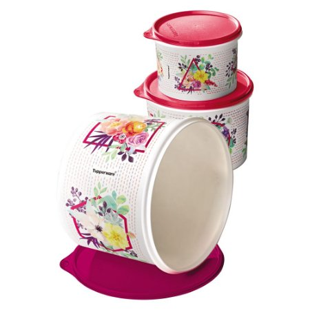 Tupperware Caixa Verão Floral kit 3 Peças