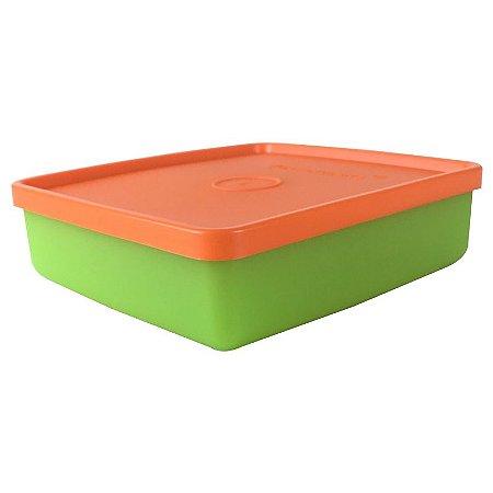 Tupperware Refri Box 400ml Verde e Amarelo