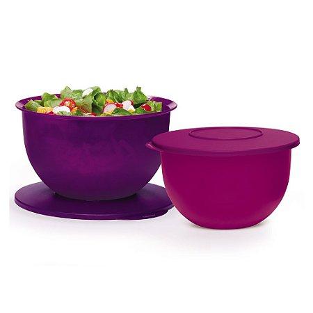 Tupperware Tigela Murano Roxa kit 2 Peças
