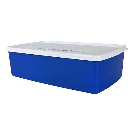 Tupperware Caixa Ideal Azul Escuro e Tampa Branca 1,4 litro