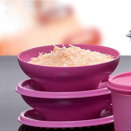 Tupperware Kit Tigela Sensação Rosa 500ml 2 peças