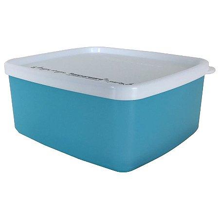 Tupperware Jeitosinho Azul Tampa Branca 400ml