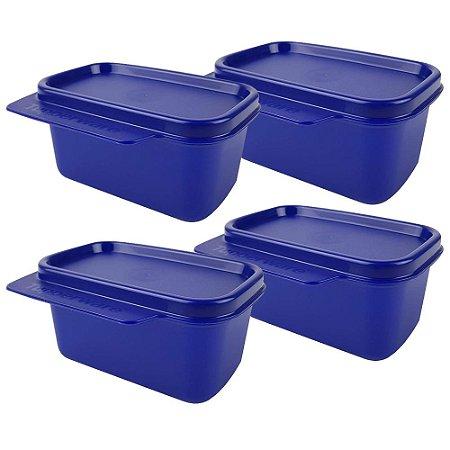 Tupperware Basic Line 160ml Azul Kit 4 Peças